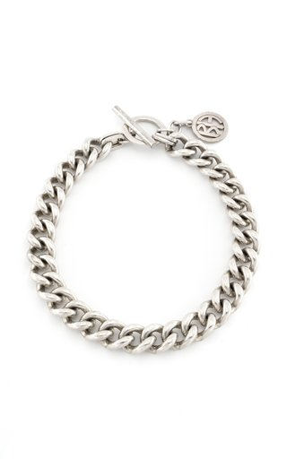 Silver-Tone Metal Chain Necklace