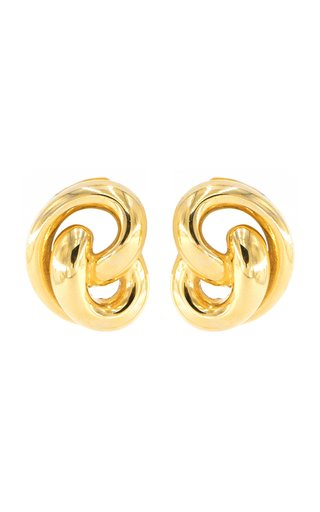 Gold-Tone Metal Clip Earrings