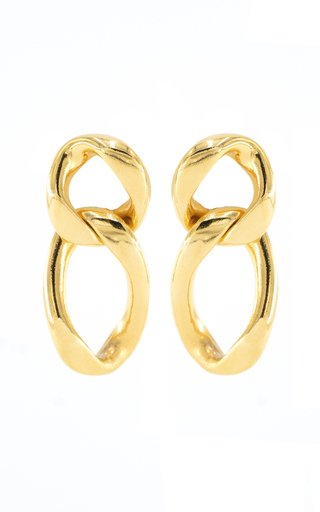 Gold-Tone Metal Chain Earrings