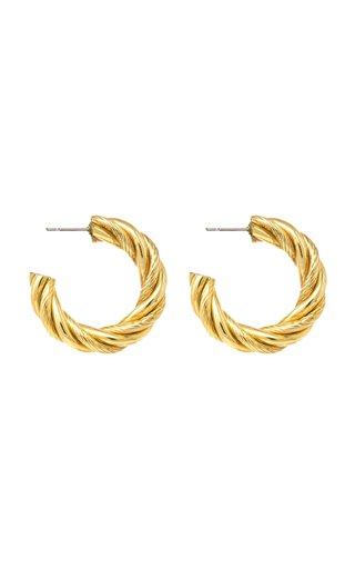 Gold-Tone Metal Twist Hoop Earrings