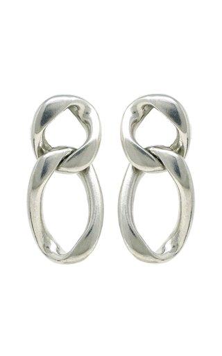 Silver-Tone Metal Chain Earrings