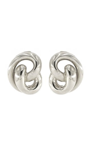 Silver-Tone Metal Clip Earrings