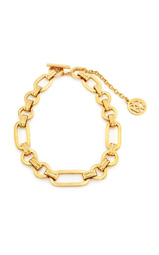 Gold-Tone Large Chain Link Necklace