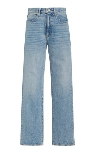 London Rigid High-Rise Organic Cotton Straight-Leg Jeans