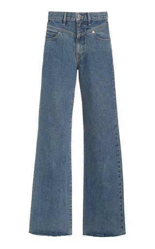 Grace Double-Yoke Rigid High-Rise Wide-Leg Jeans
