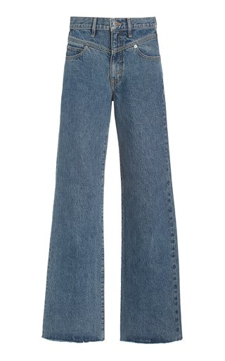 Grace Rigid High-Rise Double-Yoke Wide-Leg Jeans