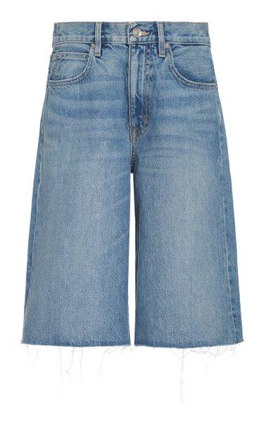 Grace Rigid High-Rise Wide-Leg Shorts