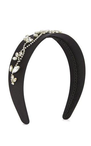 Embroidered Satin Headband