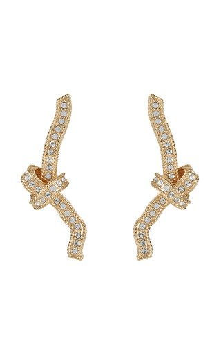 Crystal Knot Long Earring