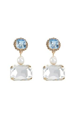 Crystal Pearl Drop Earring