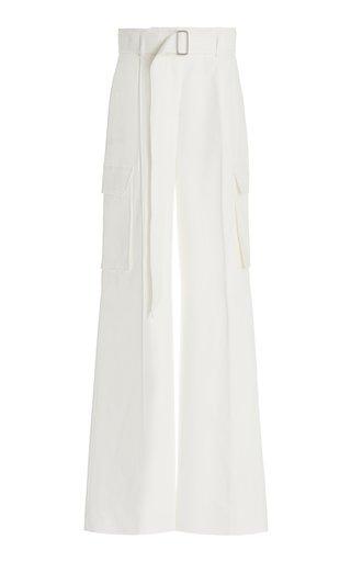 Nebbia Cotton-Blend Wide-Leg Pants