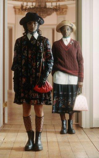 Bernita Pleated Floral Hem Skirt