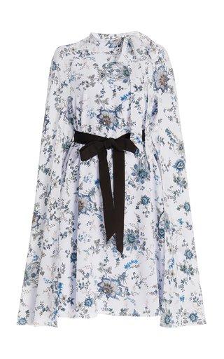 Verdie Belted Floral Silk Midi Dress