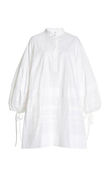 Organic Cotton-Poplin Mini Shirt Dress