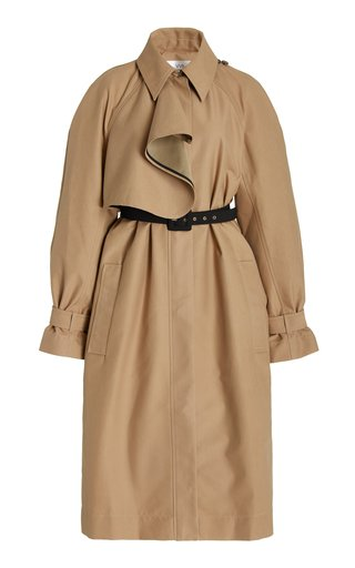 Double-Faced Cotton-Blend Trench Coat