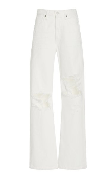 Libby Distressed Rigid High-Rise Flared-Leg Jeans