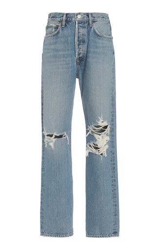 90's Pinch-Waist Rigid High-Rise Organic Cotton Straight-Leg Jeans