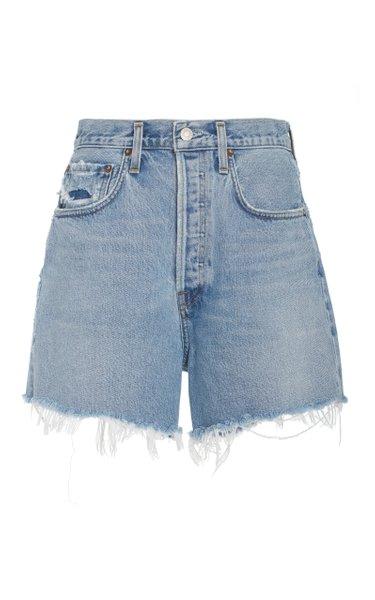 Riley Distressed Organic Cotton Shorts