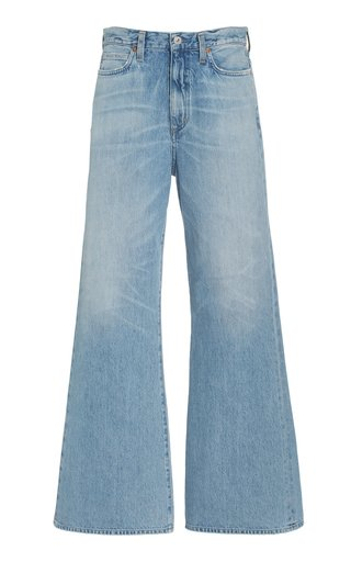Rosanna Rigid Mid-Rise Wide-Leg Jeans
