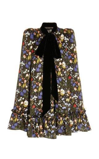 The Confessional Floral Silk Cape