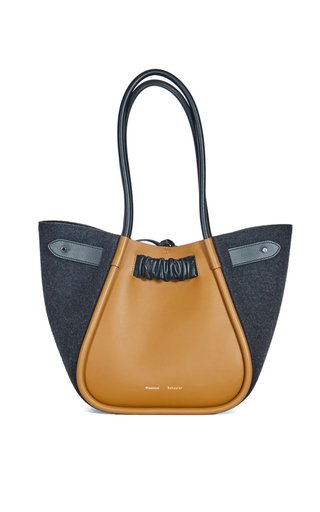 Large Felted Ruched Tote