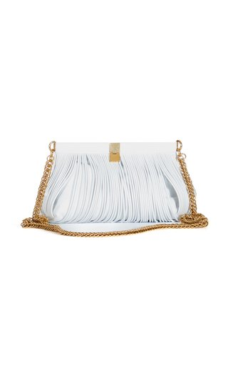 Rolo Frame Leather Clutch