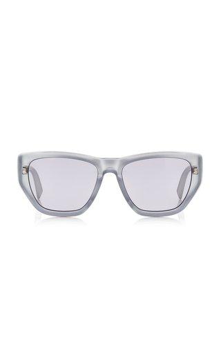 Hexagonal-Frame Acetate Sunglasses