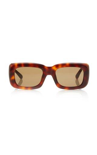 Marfa Square-Frame Tortoiseshell Acetate Sunglasses