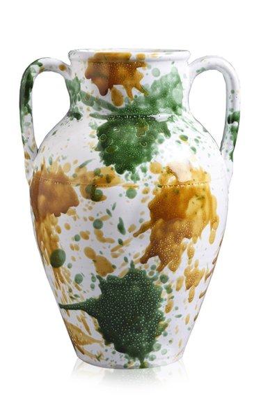 Apulia Hand-Printed Ceramic Vase