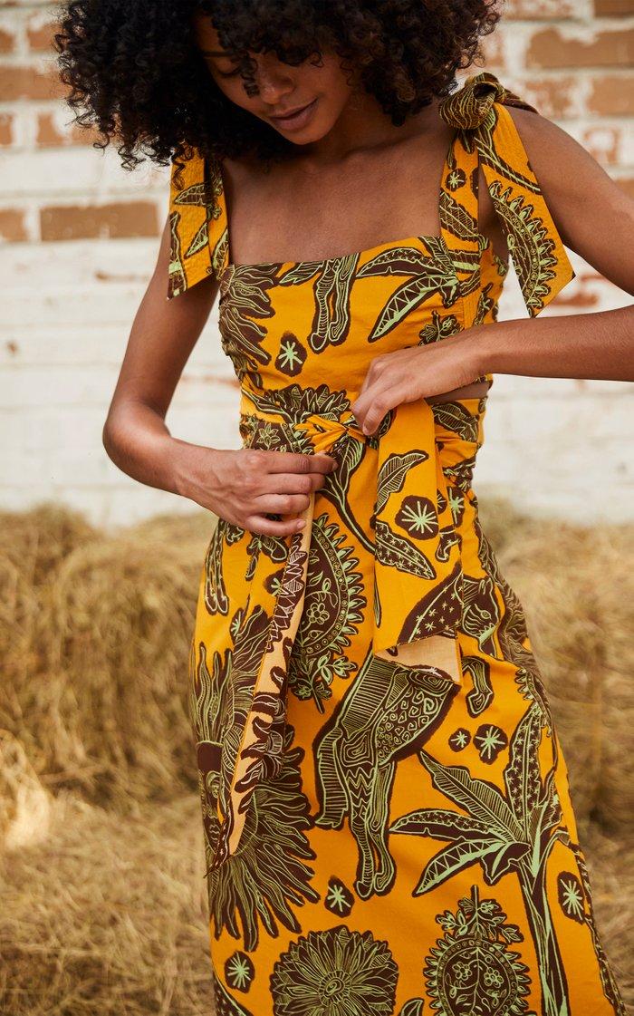 Solar Historico Printed Organic Cotton Maxi Dress