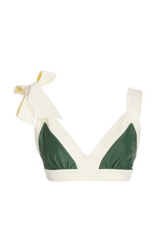 Selva Tie-Accented Bikini Top