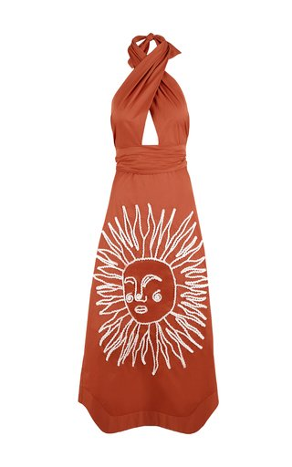 Manana Soleada Cotton-Blend Halter Dress