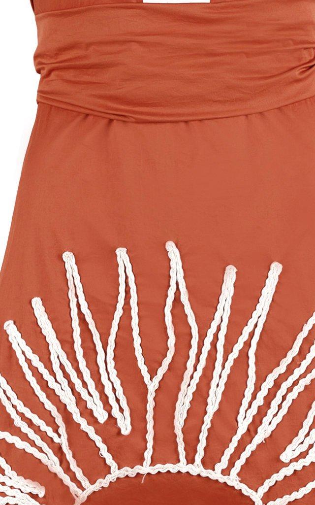 Manana Soleada Cotton-Blend Halter Dress