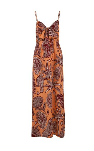 Llovizna Printed Cotton Maxi Dress
