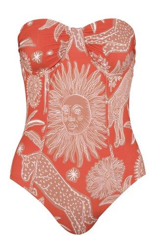 Kaskaskia Printed Strapless One-Piece Swimsuit