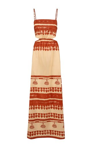 Intangible Culture Printed Cotton Maxi Dress