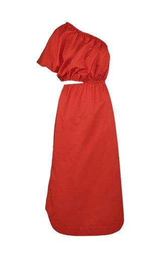 Epifania Asymmetric Cotton-Blend Dress