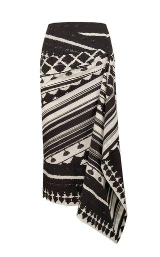 Prehistoric Origin Printed Cotton Midi Skirt