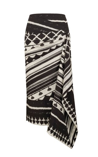 Prehistoric Origin Printed Cotton Midi Skirt