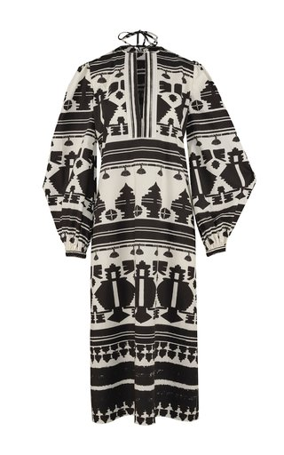 Sierra Madre Printed Cotton Tunic Dress