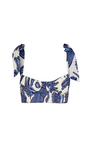 Printed Cotton Cropped Top