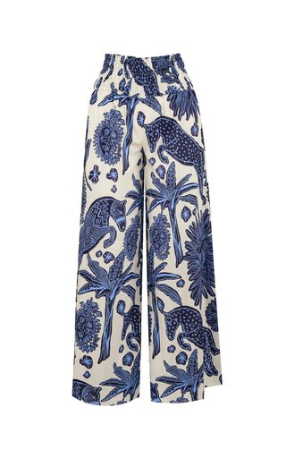 La Esperanza Printed Cotton Tapered Pants