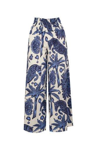La Esperanza Printed Cotton Wide-Leg Pants