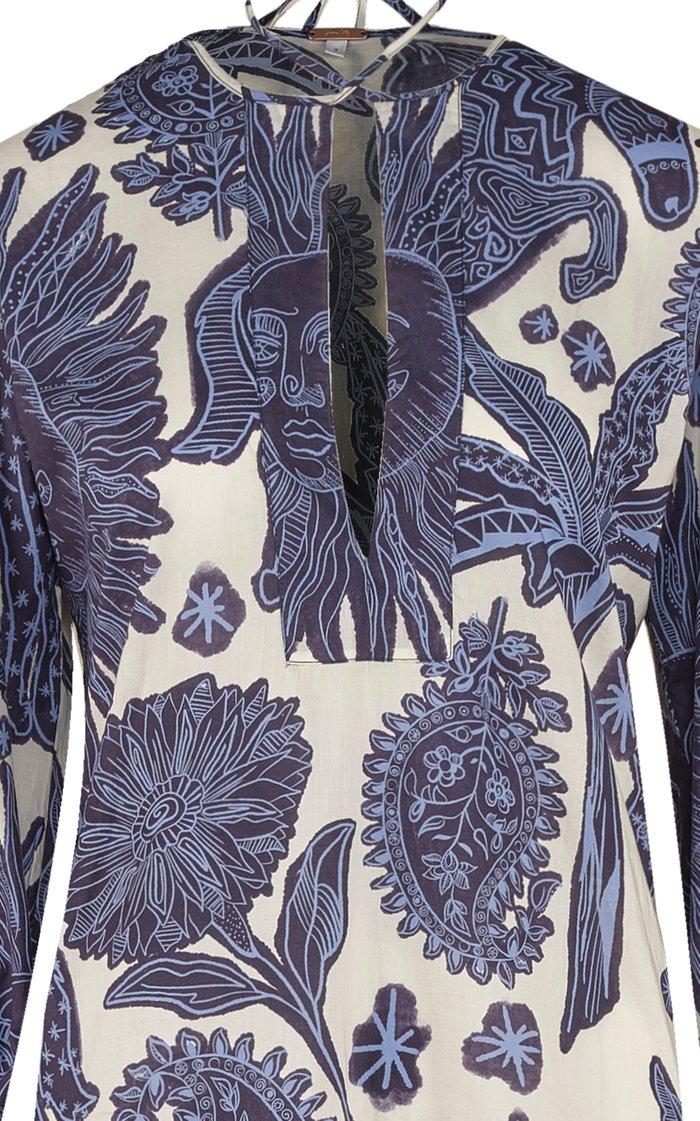 Litoral Printed Cotton Tunic Dress