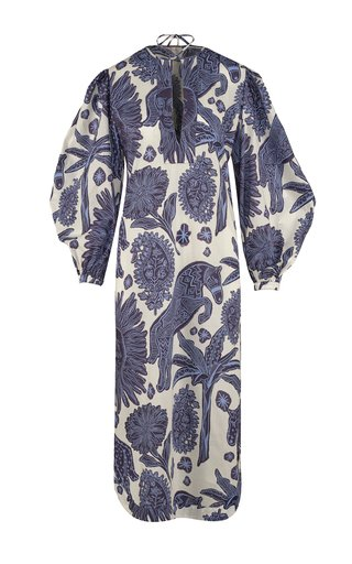 Litoral Printed Cotton Tunic Dress