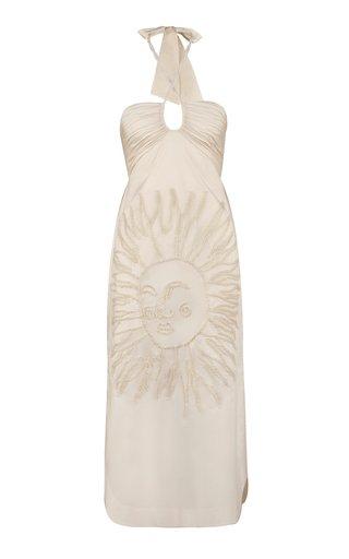 Luces Del Cielo Cotton-Blend Midi Dress