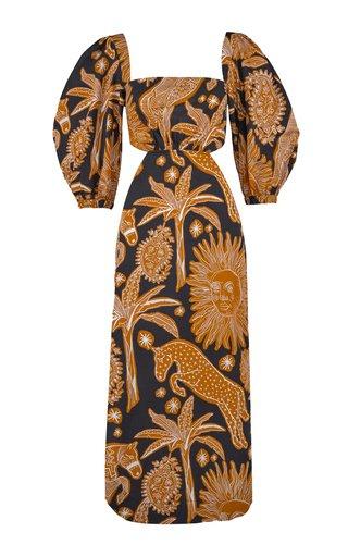 Macondo Printed Cotton Midi Dress