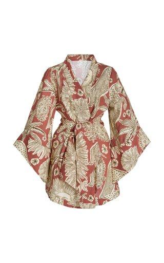 Woodland Tribed Linen Kimono