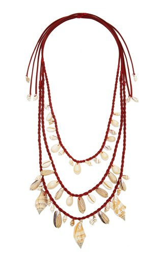 Castellana Shell and Leather Necklace Set
