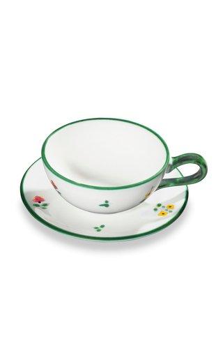 Alpine Flowers, Set Of 6 Tea Cup & Saucer